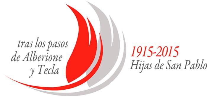 Logotipo del centenario de la congregación Hijas de San Pablo