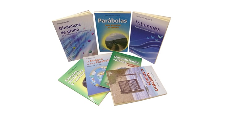 Muestra de los libros perteneciente a la colección Dinamismo y Vida