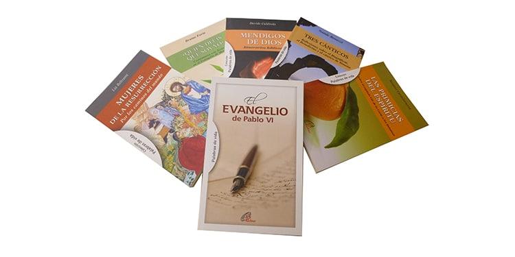Muestra de libros pertenecientes a la colección Palabras de vida