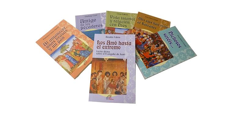 Muestra de libros pertenecientes a la colección Sembrar la Palabra
