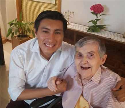 Rafaela con Miguel
